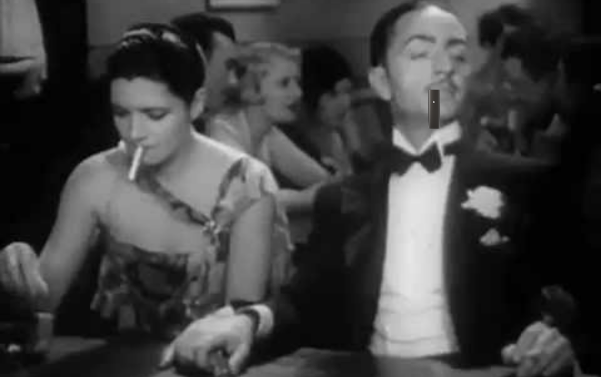 1930s couple vaping and smoking