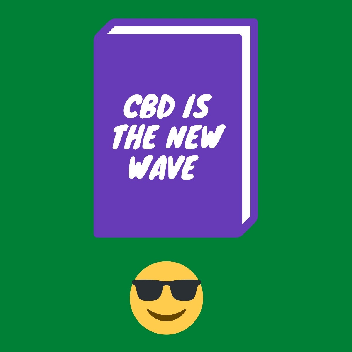 purple book with title of CBD is the new wave