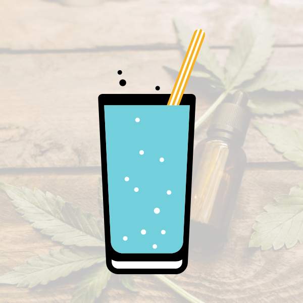 CBD infused sparkling water for drinking