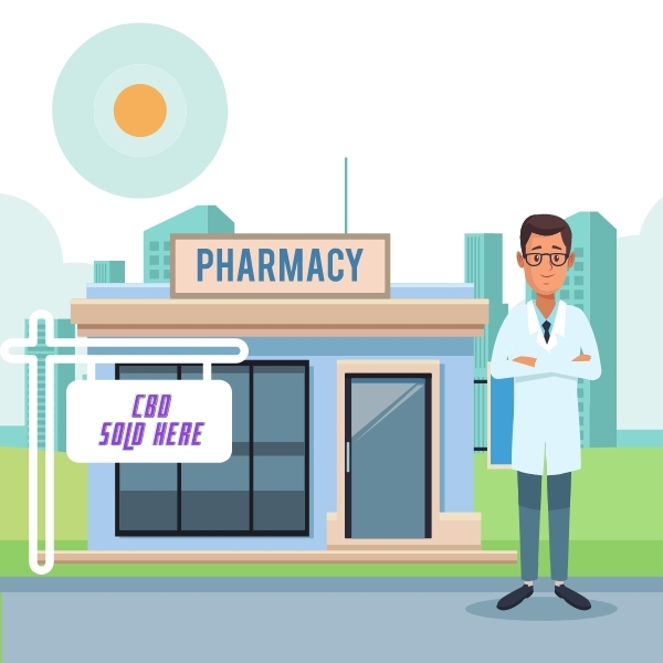 CBD is sold in this pharmacy just go on in