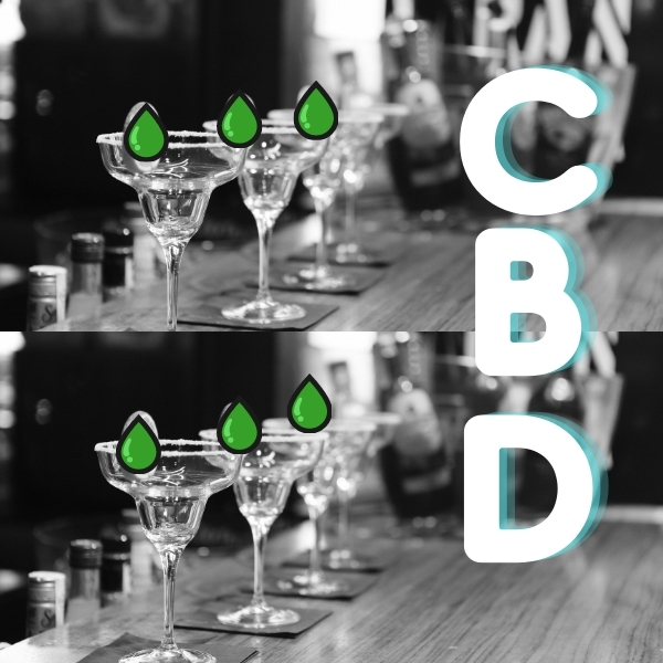 CBD cocktails out with your friends feeling good