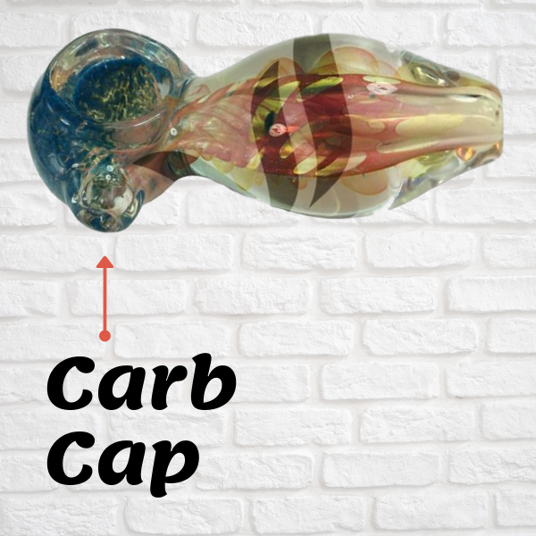 Carb Cap being pointed out on a glass spoon