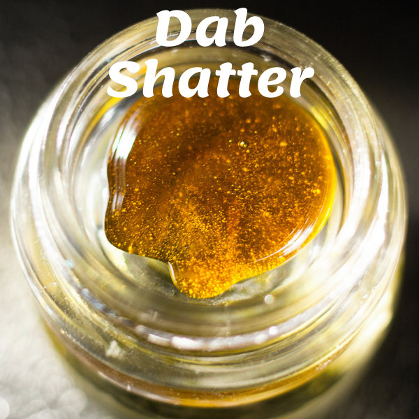 Dab shatter in a dab container high quality