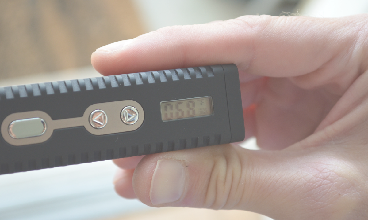 Vape temperature  getting to the right temp.