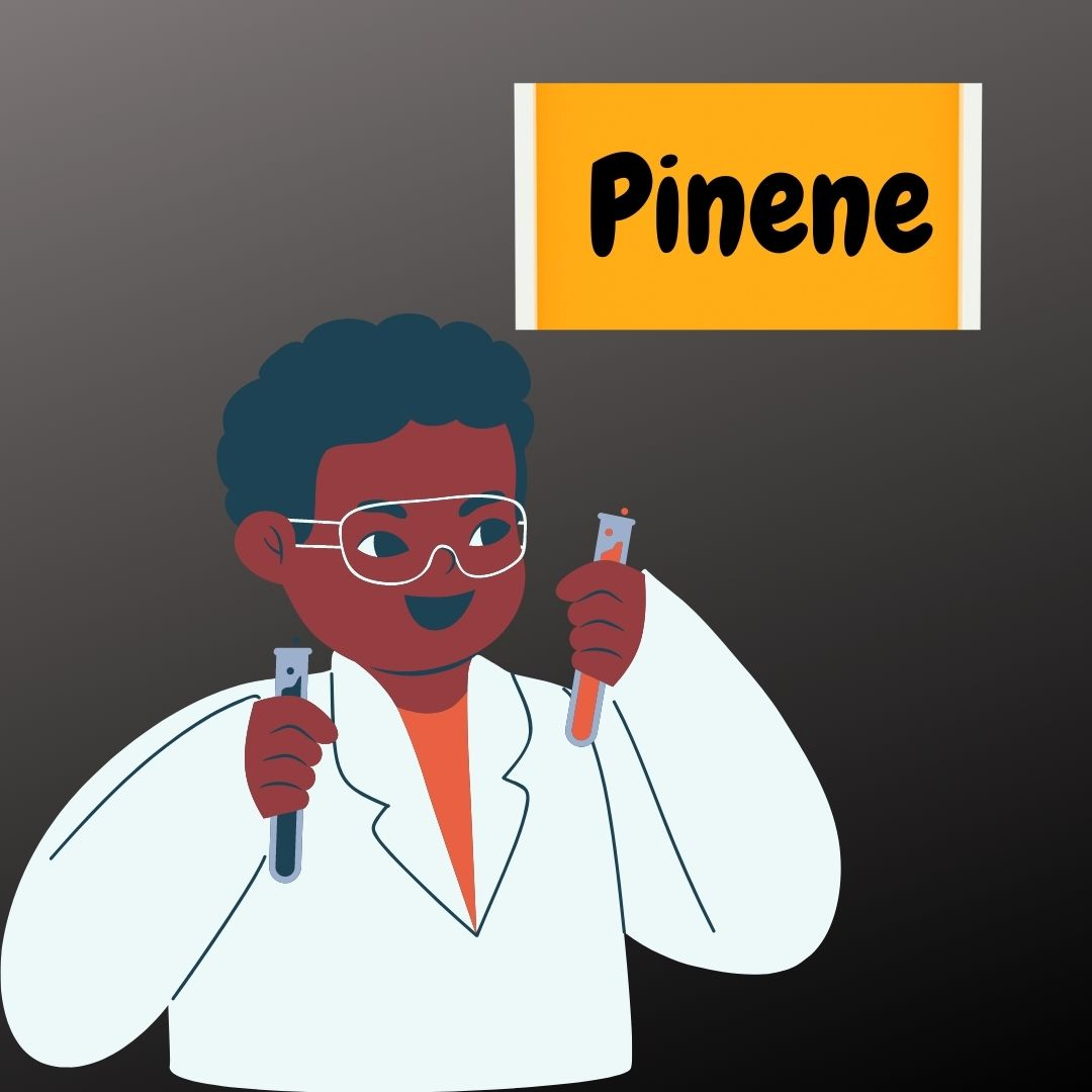 Pinene being mixed in a lab by a chemist