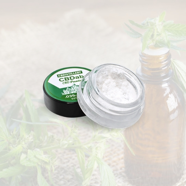 CBD topicals in small travel coontainer