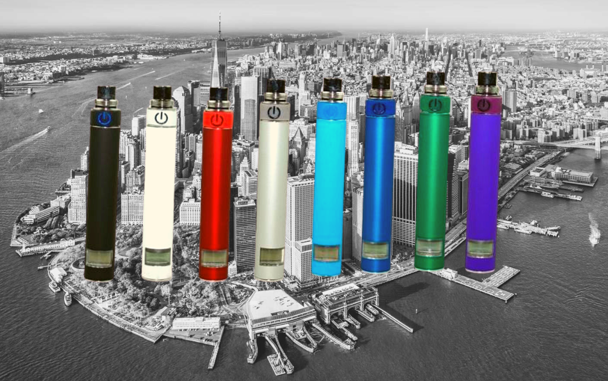 AGO Vape Batteries in different colors