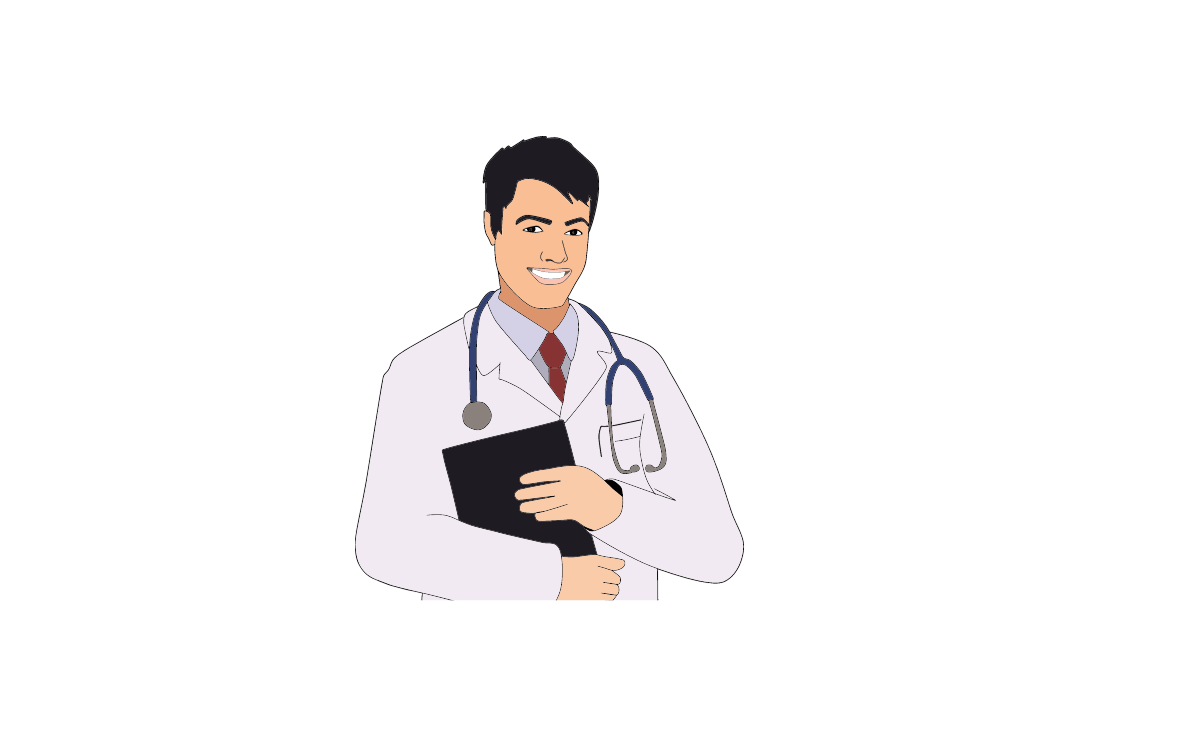 doctor talking in a positive note