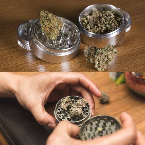 Grinding your dry herb before packing your bowl