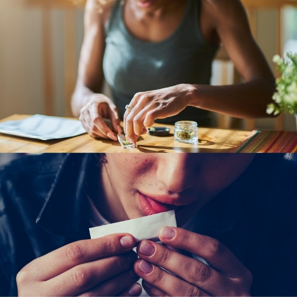 packing dry herbs into your joint properly