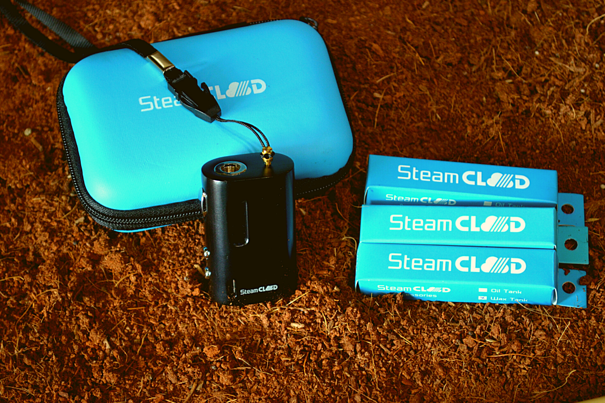 SteamCloud mini in the dirt